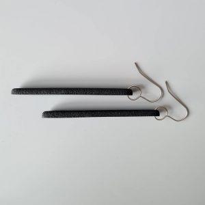 Side view of Long Flow earrings